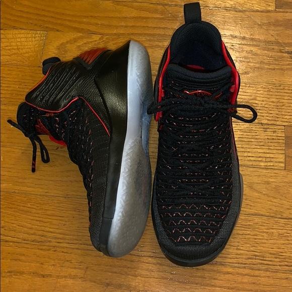 a276556c2d10c4 Jordan Other - Boys Air Jordan High Top Sneakers Black Red size 4